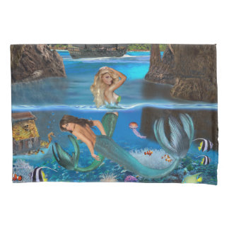 MERMAIDS OF THE PIRATE CAVE PILLOWCASE