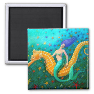 Mermaid's Ride- Seahorse Magnet