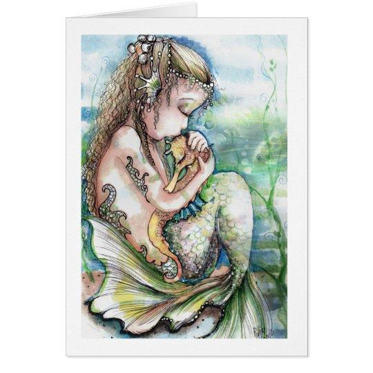 Mermaid's Seahorse note cards