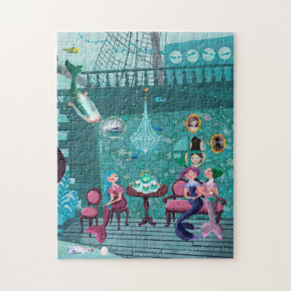 Mermaids' Tea Party illustration Jigsaw Puzzle