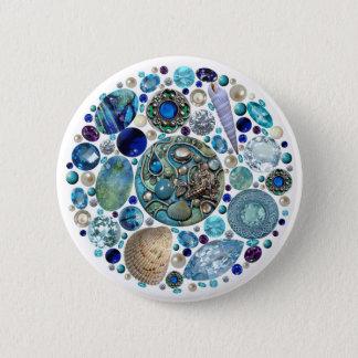 Mermaid's Treasure 1 2 Inch Round Button