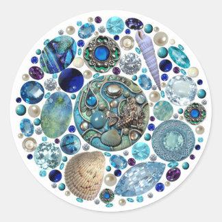 Mermaid's Treasure 1 Round Sticker