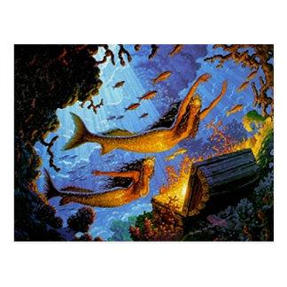 Mermaids Treasure Of Gold Postcard