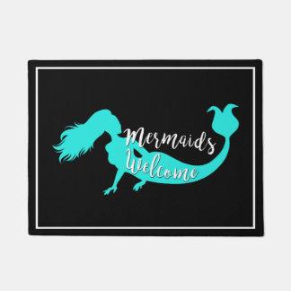 Mermaids Welcome Nautical Doormat