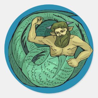 Merman Classic Round Sticker