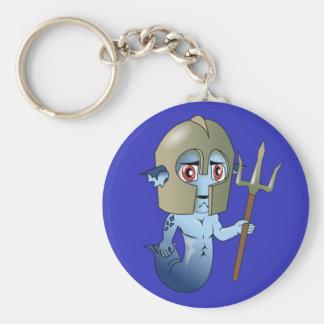 Merman Neptune's Warrior Keychain