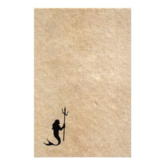 Merman on old parchment stationery