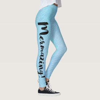 Mermazing Inscription Mermaid  Women Leggings