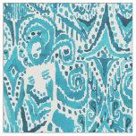 #MERMLIFE Aqua Nautical Mermaid Tribal Ikat Fabric
