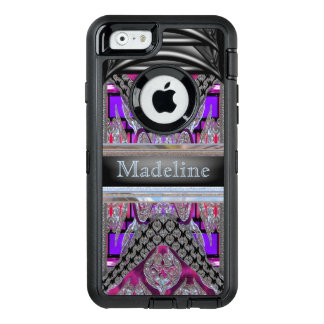 Merockel Modern Fun Girl Monogram OtterBox Defender iPhone Case