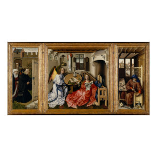 Merode Alterpiece by Robert Campin Poster