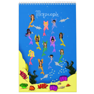 Merpeople Prints Book Wall Calendars