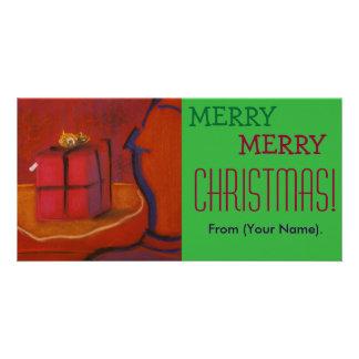 Merr Merry Christmas Customizable Notecard Photo Card Template