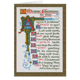 Merrie Christmas card. Card