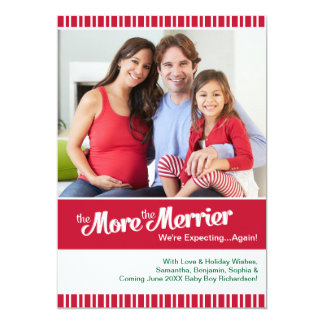 Merrier Christmas Pregnancy Expecting Again Card