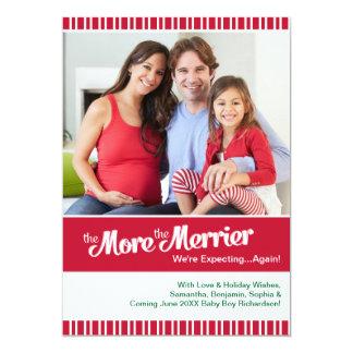 Merrier Christmas Pregnancy Expecting Again Card
