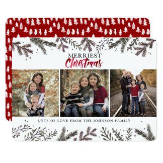 Merriest Christmas | Botanical Trees | Photo Card