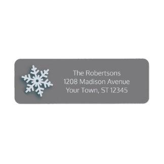 Merriest Christmas Modern Holiday Style Return Address Label