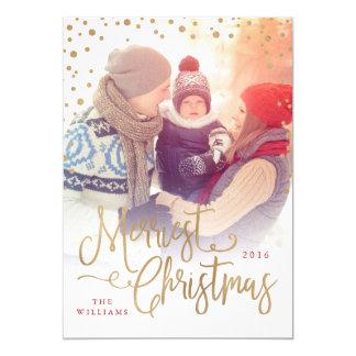 "Merriest Christmas Photo Card 5"" X 7"" Invitation Card"