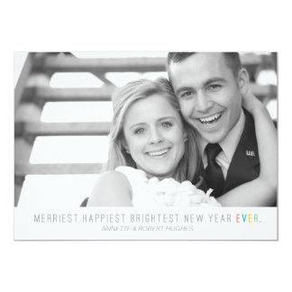 Merriest Happiest Brightest New Year | Photo Card
