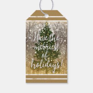 Merriest of Christmas Holidays Gift Tags