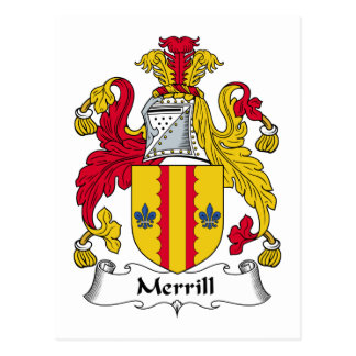 Merrill Family Crest Postcards