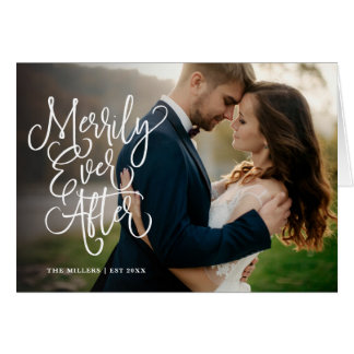 Merrily Ever After Full Photo Holiday   Thank You Card