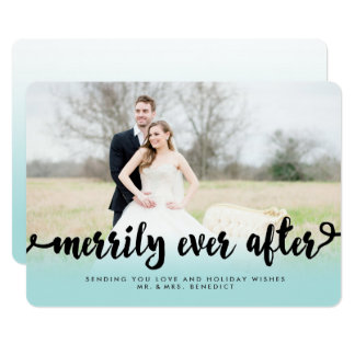 Merrily Ever After Ombre Holiday Photo Card