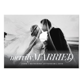Merrily Married Newlywed Christmas Card