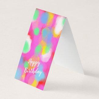 Merrily multicolored birthday greetings card