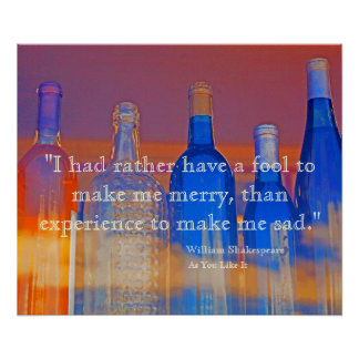 Merriment vs Experience As You Like It Quote Poster