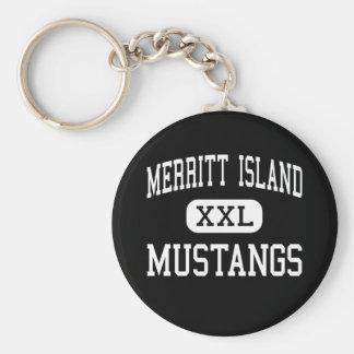 Merritt Island - Mustangs - High - Merritt Island Keychain