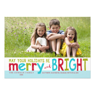 Merry and Bright 2014 Holiday Photo Greeting Cards