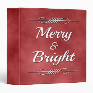 Merry and Bright 3 Ring Binders