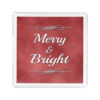 Merry and Bright Acrylic Tray