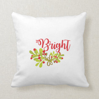Merry And Bright  Bright Holiday Throw Pillow