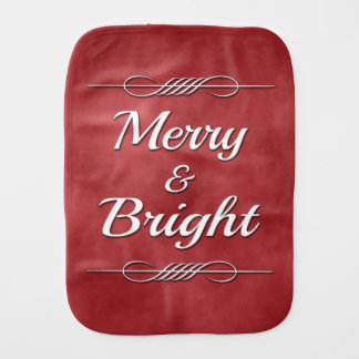 Merry and Bright Burp Cloth
