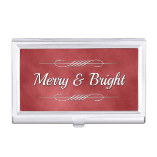 Merry and Bright Business Card Holder