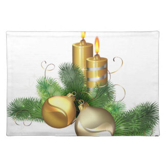 Merry and Bright Candles Placemat