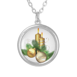 Merry and Bright Candles Silver Plated Necklace