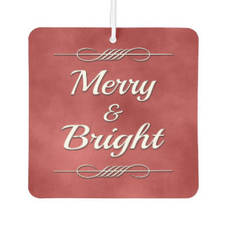 Merry and Bright Car Air Freshener
