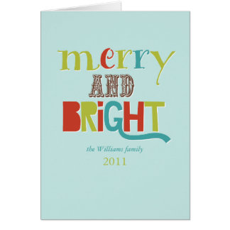 Merry and Bright Card