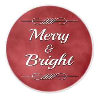 Merry and Bright Ceramic Knob