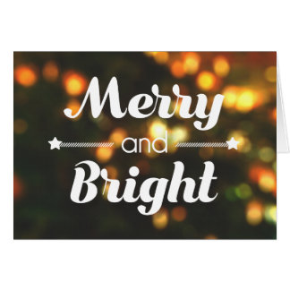 """Merry and Bright"" Christmas Card (BLANK)"