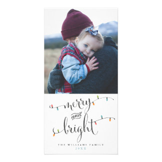 Merry and Bright Christmas Lights Card