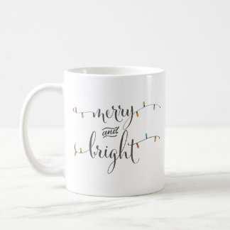 Merry and Bright Christmas Lights Coffee Mug