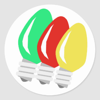Merry and Bright Christmas Lights Stickers