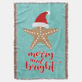 Merry and Bright | Christmas Santa Starfish Throw Blanket