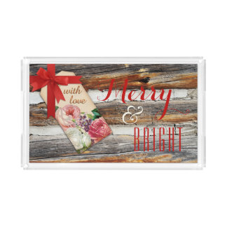 Merry and Bright Christmas Serving Tray