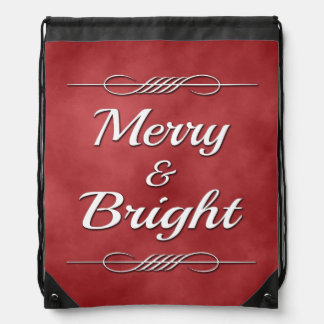 Merry and Bright Drawstring Bag